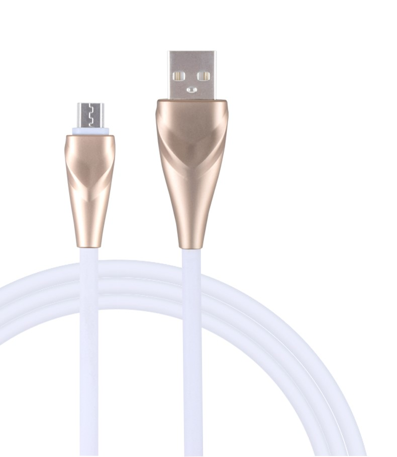Metal core data Micro TPE charging cable