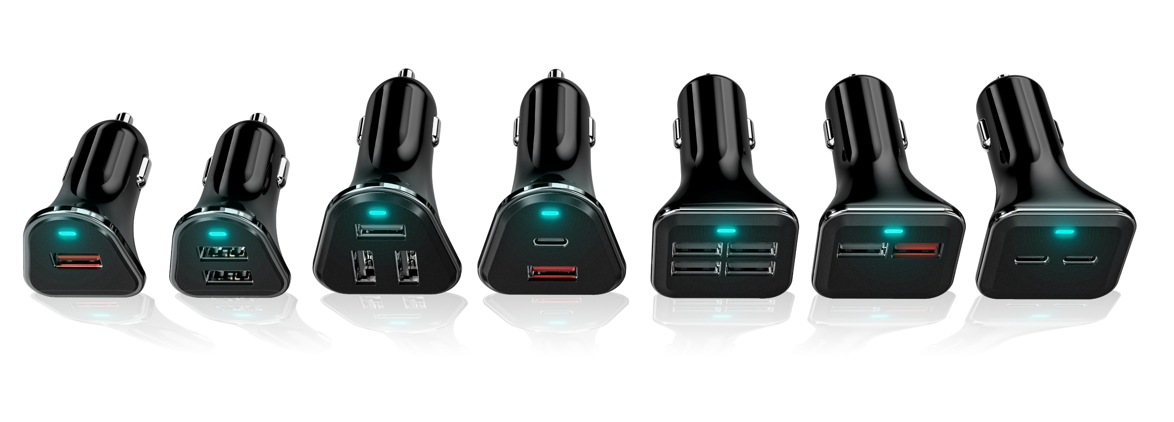 Three Ports USB In Car Charger