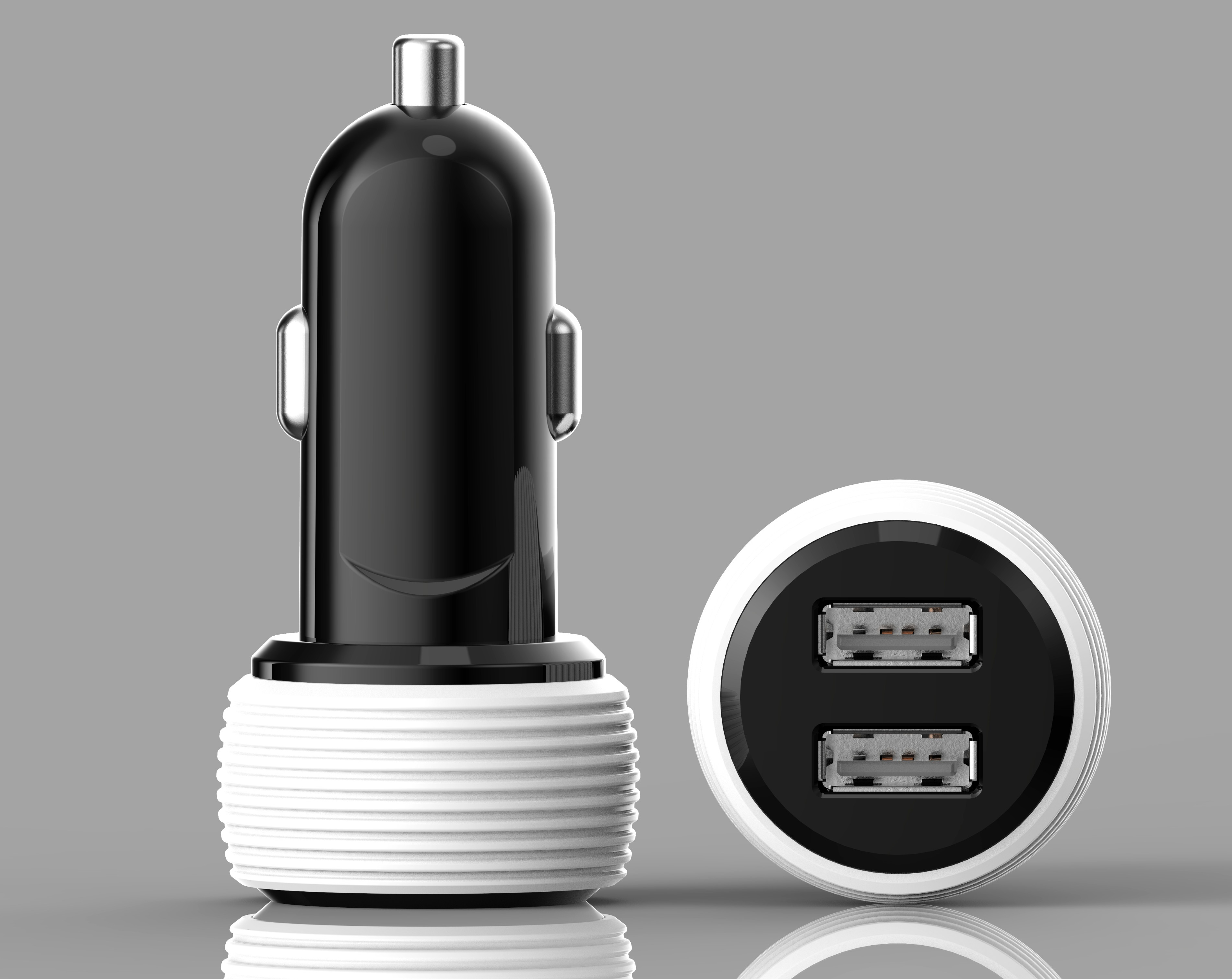 Dual USB spiricle In Car Charger